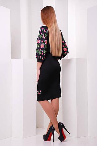 Нарядное и красивое платье с орнаментом черное размеры xl,2xl,3xl, фото 2