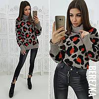 Женский стильный свитер с животным принтом  (2 цвета), фото 1