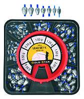 Набор грузил капля с кембриком EnergoFish Kamasaki Lead Set V 150г 0.5-2.5г (54105150)
