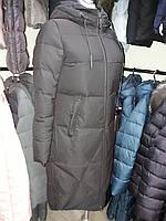 Куртка женская зимняя черная удлиненная  KSA 19-36, фото 1