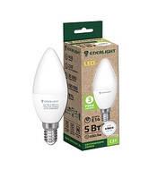 Лампа світлодіодна свічка ENERLIGHT С37 5Вт 3000K E14 ш.к. 4823093500112
