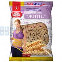 """Сухой завтрак MakSport  фигурные изделия с отрубями """"Ржаные"""", 200г"""