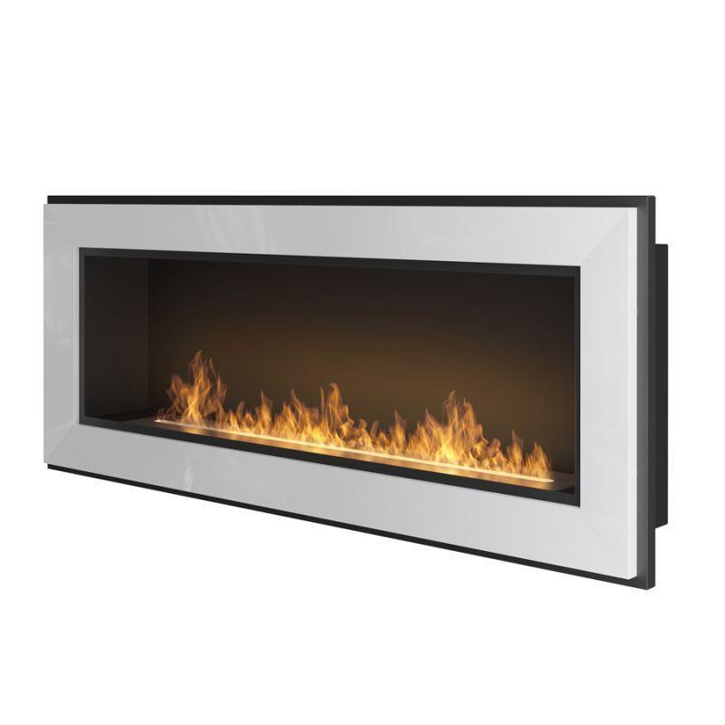 Біокамін Simple Fire Frame 1200 сірий зі склом