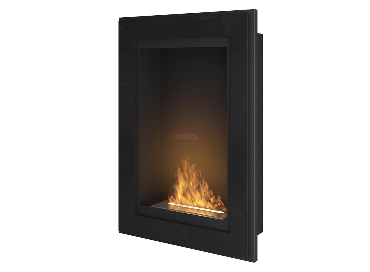 Біокамін Simple Fire Frame 550 чорний зі склом