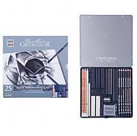 Набор для графики CRETACOLOR Black and White 25шт метал. коробка 40026