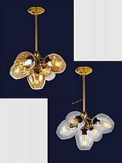 Люстра подвесная Bubble в стиле lolt LV  - очень модная золотой корпус+янтарные плафоны, фото 2