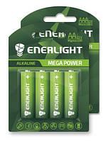 Батарейка ENERLIGHT MEGA POWER (AA ПАЛЬЧИК) Алкалайновые (БЛИСТЕР) 4 шт. / Ок 48 шт. / Уп 4823093501867