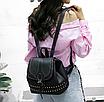Рюкзак женский Viktoria кожзам городской Черный, фото 4