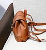 Рюкзак женский Viktoria кожзам городской Черный, фото 6