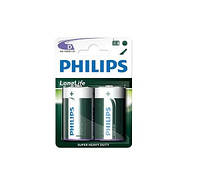 Батарейка PHILIPS LONG LIFE R-14 ТЕХНІЧНИЙ (8712581549671)