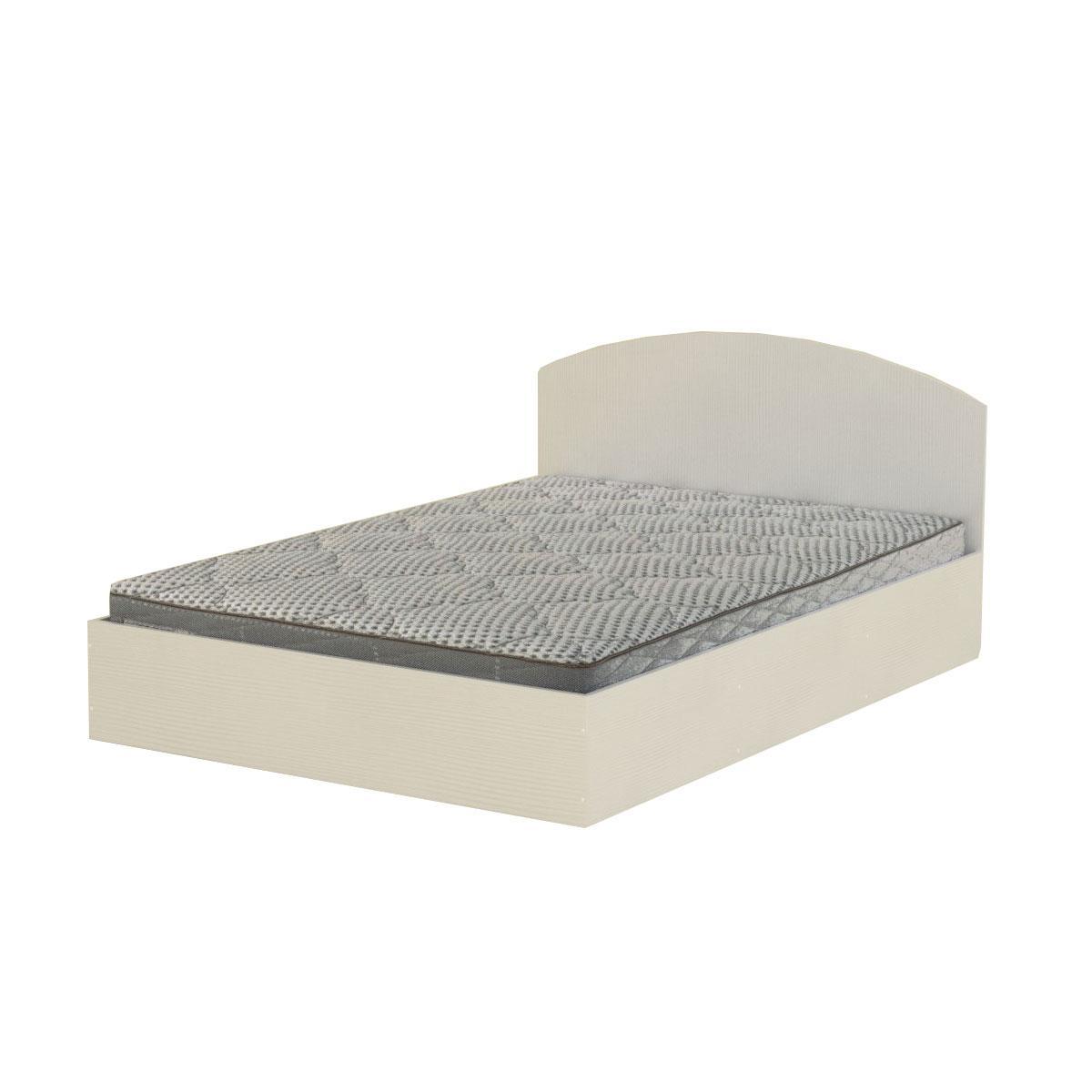 Кровать 140 нимфея альба (белый) Компанит (144х202х75 см)