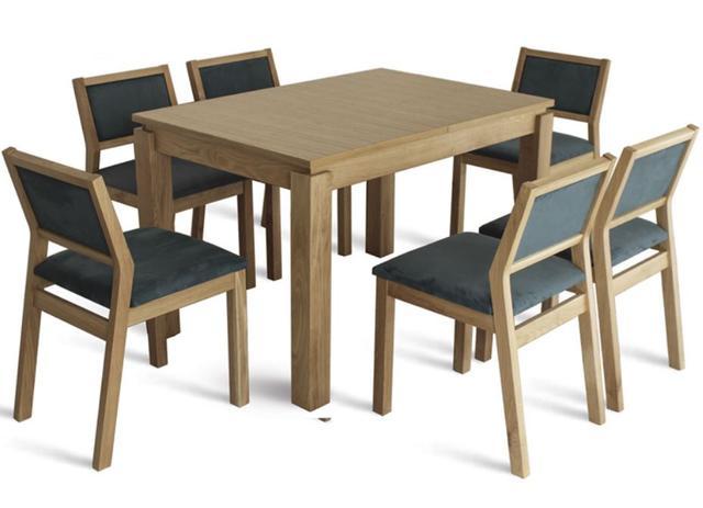 Комплект стол и стулья Комано белый (бук натуральный)