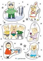 Спортивный набор наклеек Ирины Герчанивской, фото 1