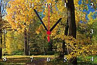 "Настенные часы МДФ  ""Лес осенью"" кварцевые, фото 1"