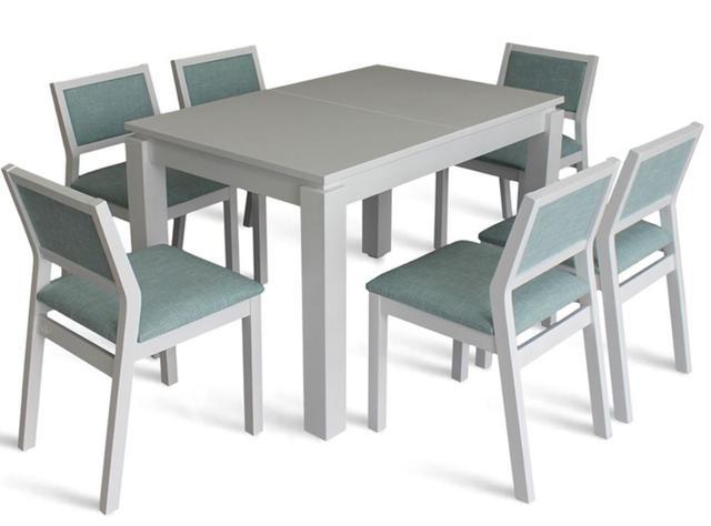 Комплект стол и стулья Комано белый