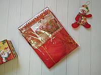 Новогодняя тканевая скатерть на стол 150*220 см, новогодние скатерти оптом от производителя