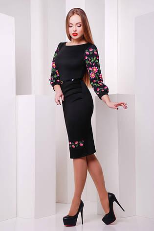Нарядное и красивое платье с орнаментом черное размеры s,m,l,xl,2xl,3xl, фото 2