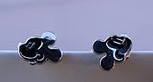Серебряные серьги - гвоздики микки маус