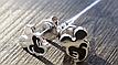 Серебряные серьги - гвоздики микки маус, фото 2