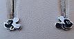 Серебряные серьги - гвоздики микки маус, фото 3