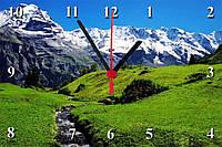 "Настенные часы МДФ  ""Заснеженные горы"" кварцевые"