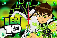 "Настенные часы МДФ  ""BEN 10"" кварцевые, фото 1"
