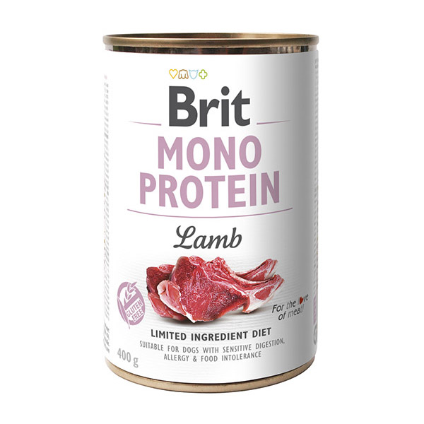 Консервы для собак Brit Mono Protein Dog 400 г с ягненком