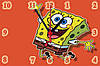 "Настенные часы МДФ  ""Sponge Bob"" кварцевые"