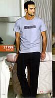 Мужская пижама, костюм для дома и отдыха футболка и брюки Sahinler 21799