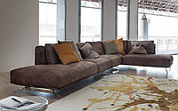 Кожаный современный диван Итальянской модели