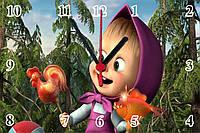 """Настенные часы МДФ  """"Маша с конфетой"""" кварцевые, фото 1"""