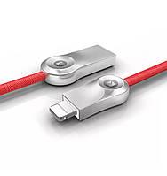 Usb кабель быстрой зарядки  Floveme с разъемом Lightening для iPhone, iPad 1 м (красный), фото 1