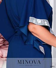 Элегантное вечернее платье синее размеры: 48-62, фото 3