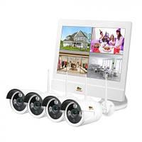 Комплект видеонаблюдения  наружний Partizan Outdoor Wireless Kit LCD 1MP 4xIP WI-FI