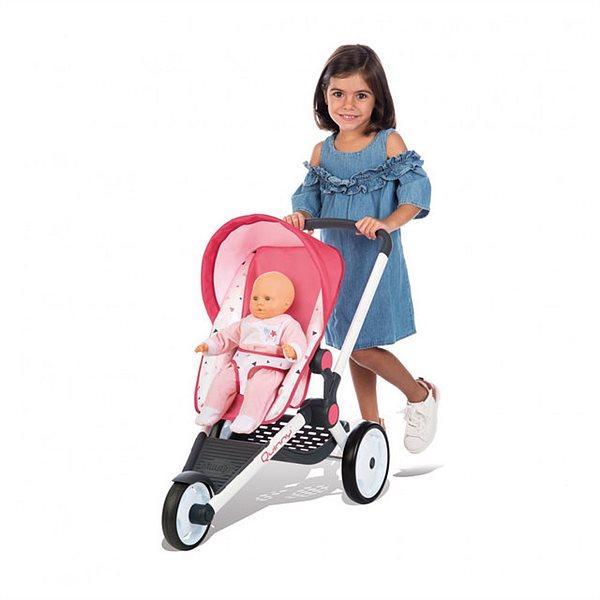 Коляска прогулочная трехколесная для кукол (высота до ручки 62см) Smoby Maxi Cosi Quinny 3+ (255098)