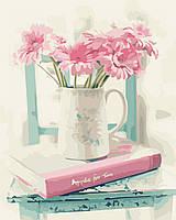 Раскраска для взрослых Цветочная романтика (AS0339) 40 х 50 см ArtStory