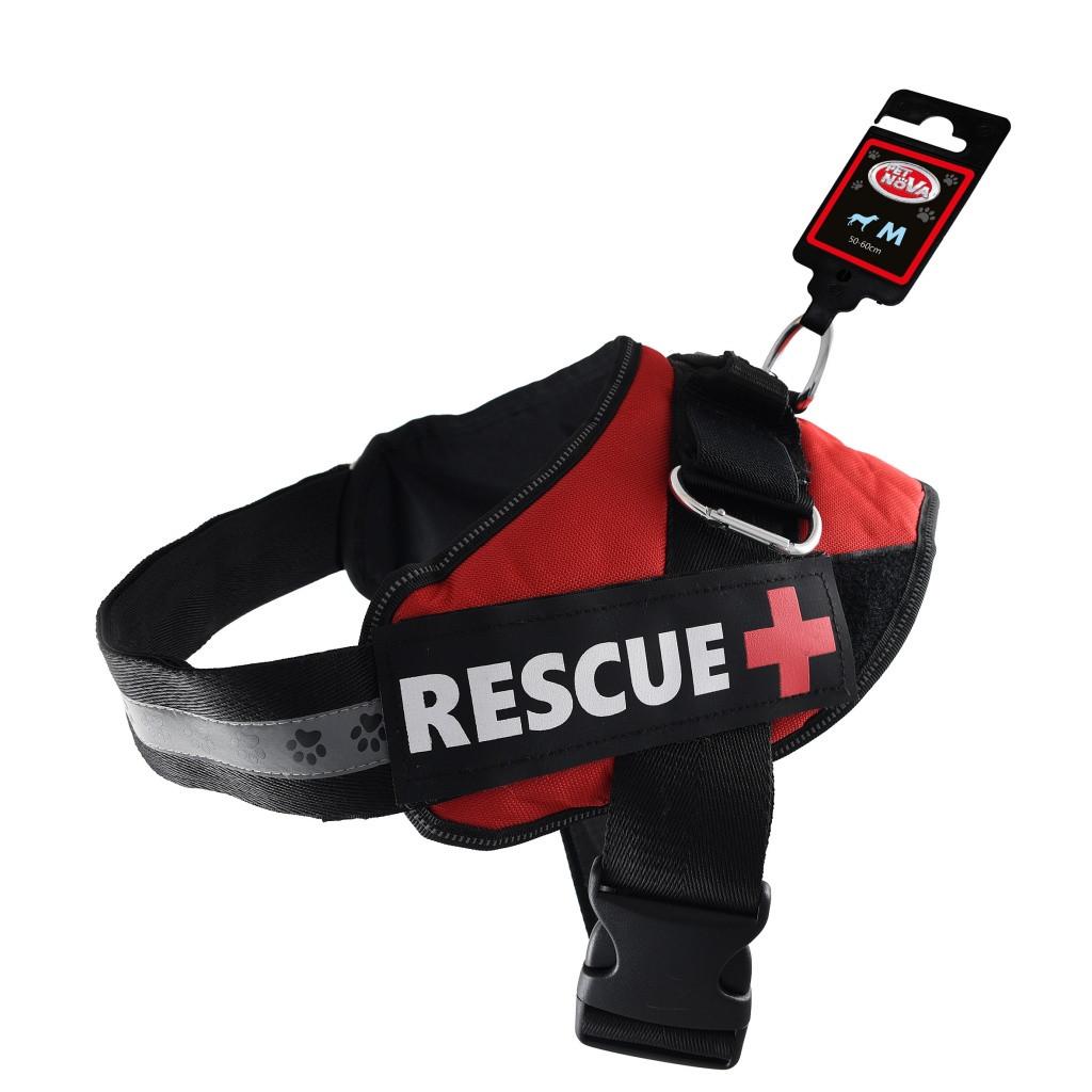 Шлея посилена Pet Dog Rescue+ M 55-65 см Червона