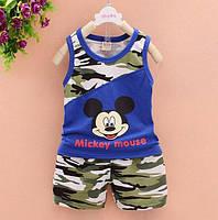 Костюм літній для хлопчиків Mickey mouse синій 6527 de37251a4e09b