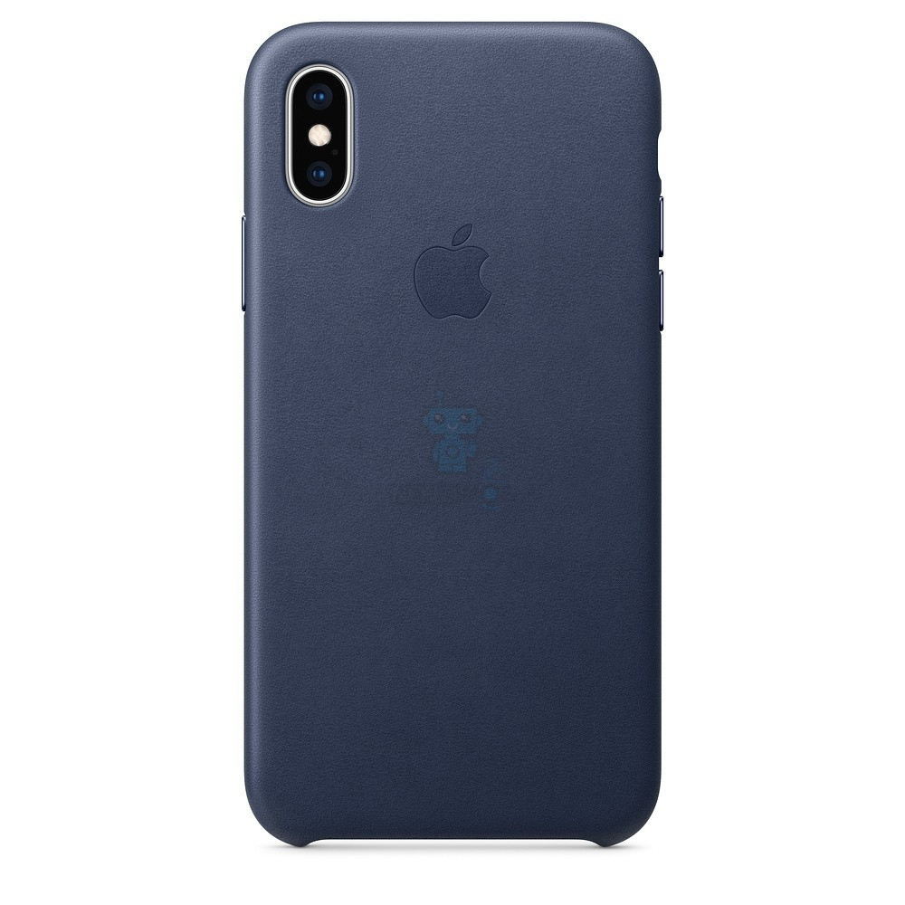 IPhone Xs Leather Case Midnight Blue (MRWN2)