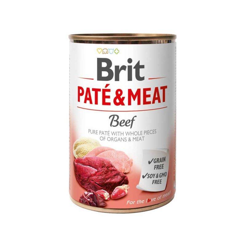 Консервы для собак Brit Paté & Meat Dog 400 г с говядиной