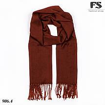 Тарракотовый шарф из пашмины, фото 3