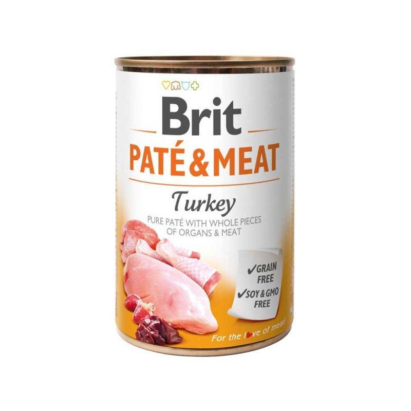 Консервы для собак Brit Paté & Meat Dog 400 г с индейкой