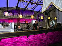 Освещение залов кафе, баров, ресторанов. Проектирование и монтаж.
