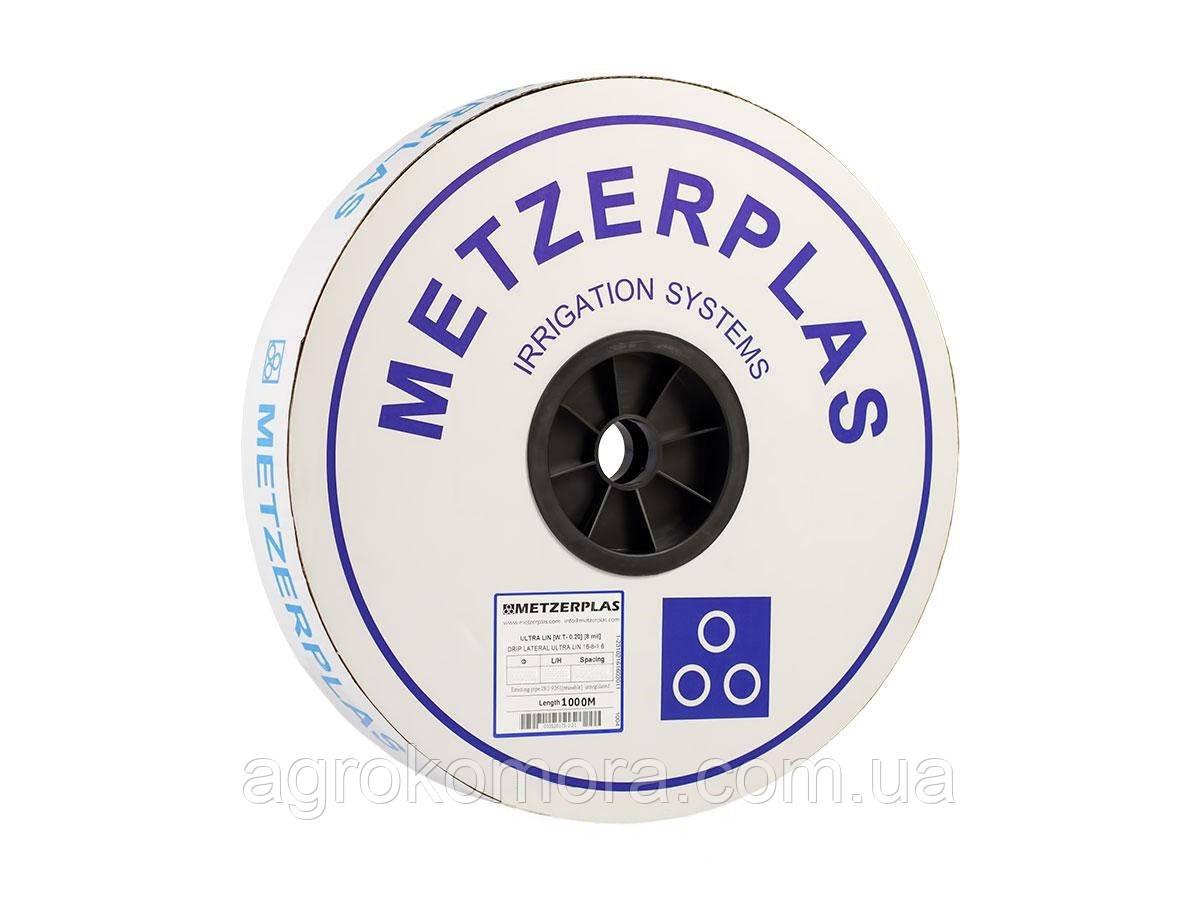 Крапельна стрічка Metzerplas 8міл 20см 1,0л/год 1000м (Ізраїль)