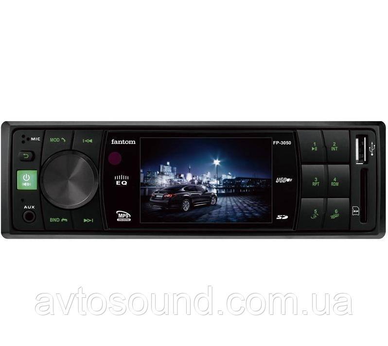 Автомагнитола Fantom FP-3050 Black/Green