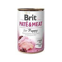Консервы для собак Brit Paté & Meat Puppy 400 г с курицей
