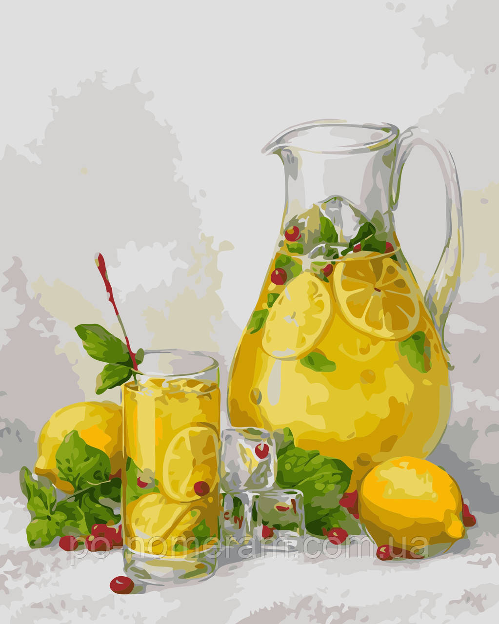 Раскраска для взрослых Лимонад (AS0468) 40 х 50 см ...
