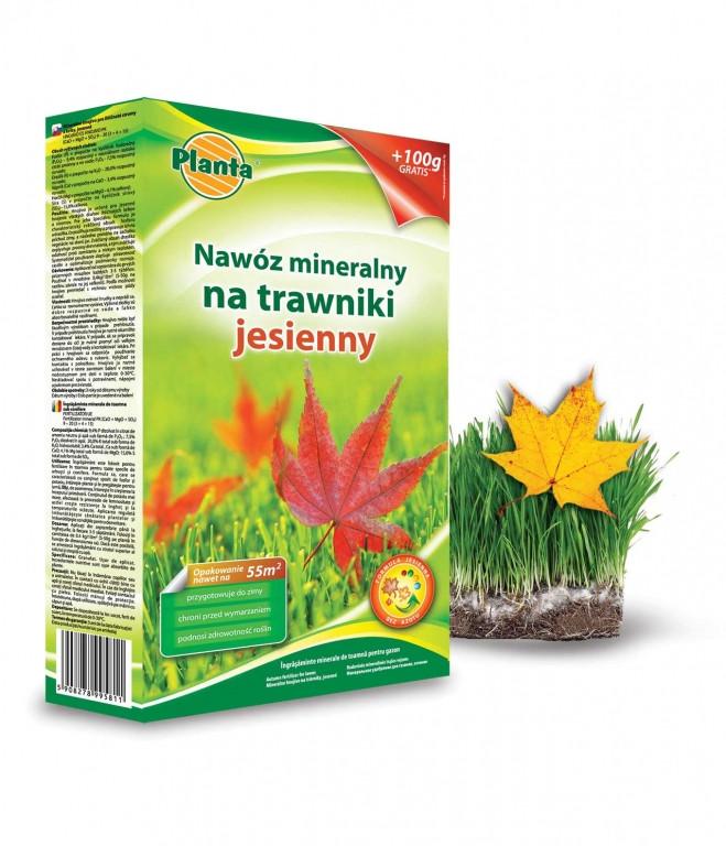 Добриво Planta Осіннє для Газону у гранулах 1кг