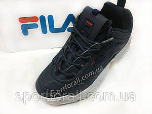 Кроссовки Fila темно-синие
