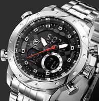 Мужские часы Shark Sport Watch SH590 LED Anolog Dual Stainless Steel , фото 1